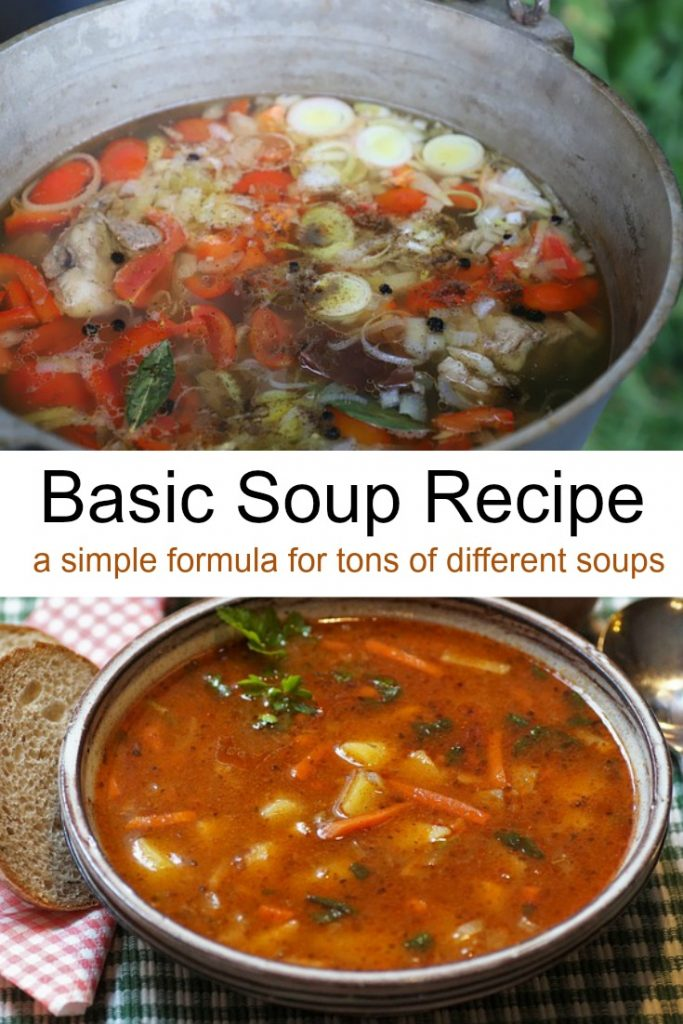 Basic Soup Recipe for tons of homemade soups
