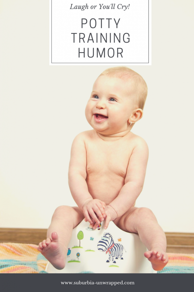 Potty Training Humor and Advice and Toddler on Potty Seat