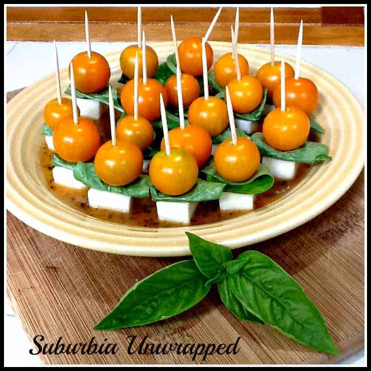 Easy Summer Appetizer:  Caprese on a Stick
