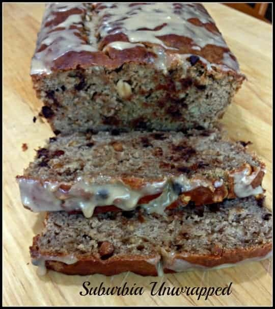 Peanut Butter Chocolate Chip Banana Bread #Recipe