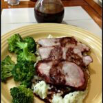 Grilled Pork Roast with Spicy Pomegranate Sauce