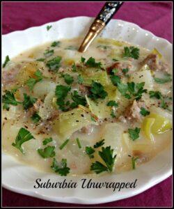soup recipe potato leak soup