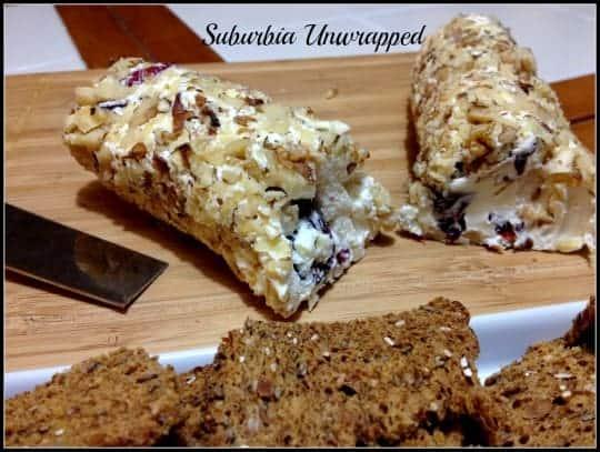 Appetizer Recipes Cranberry Walnut Goat Cheese Log