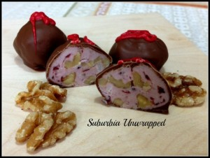homemade candy cherry nut truffles
