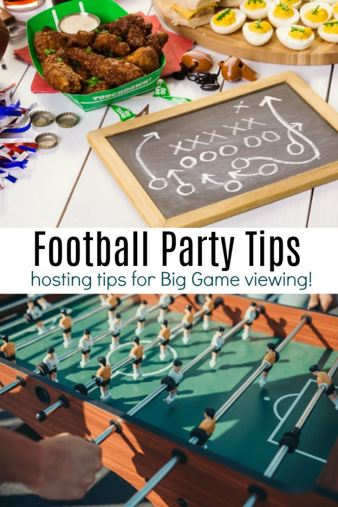 Football Party Tips for Big Game viewing