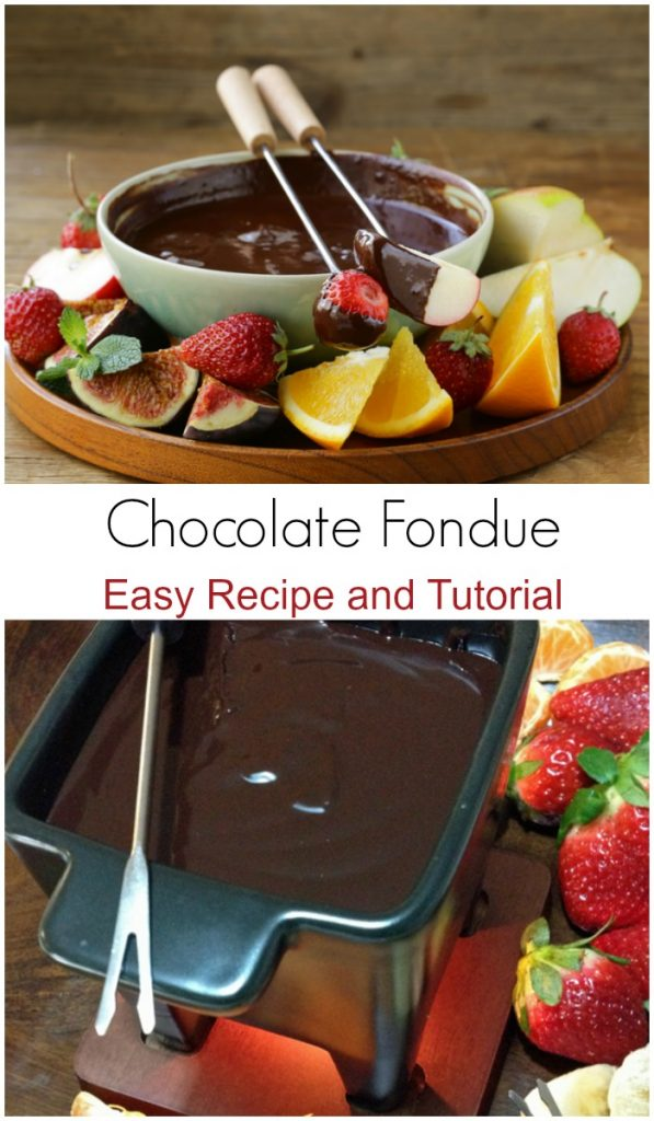 This chocolate fondue recipe and tutorial gives you step by step directions on how to make chocolate fondue. It's an easy <a href=