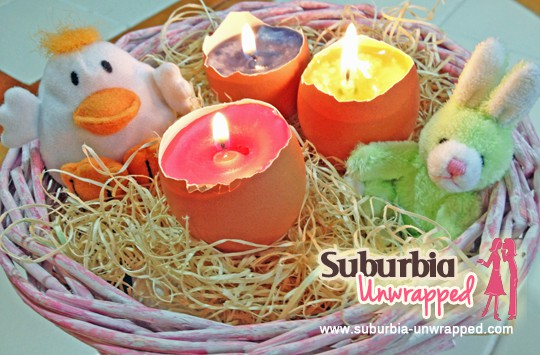 Easy Easter Crafts egg shell candles