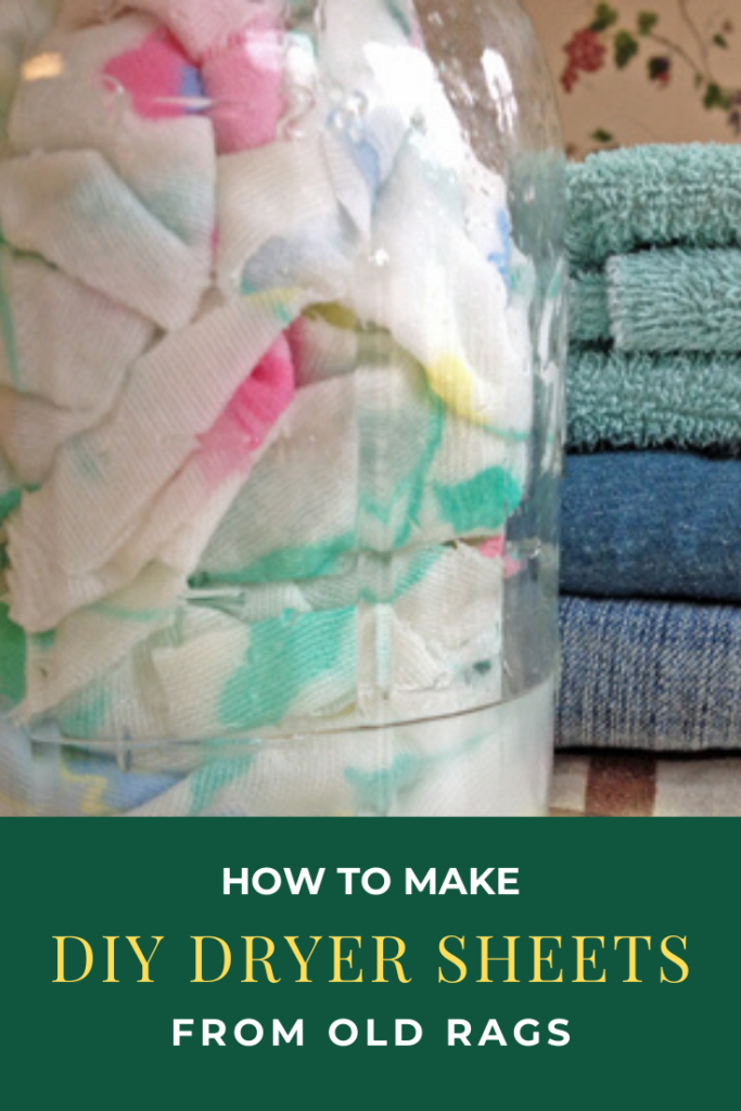 How to Make DIY Dryer Sheets from old rags