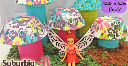 Easy Spring Craft:  Make a Mushroom Fairy Circle and a Fairy Hobmother may visit! #sp
