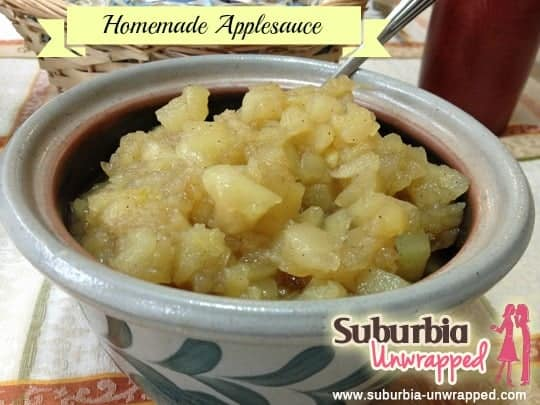 homemade applesauce with banner