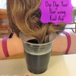 how to dip dye your hair using kool aid