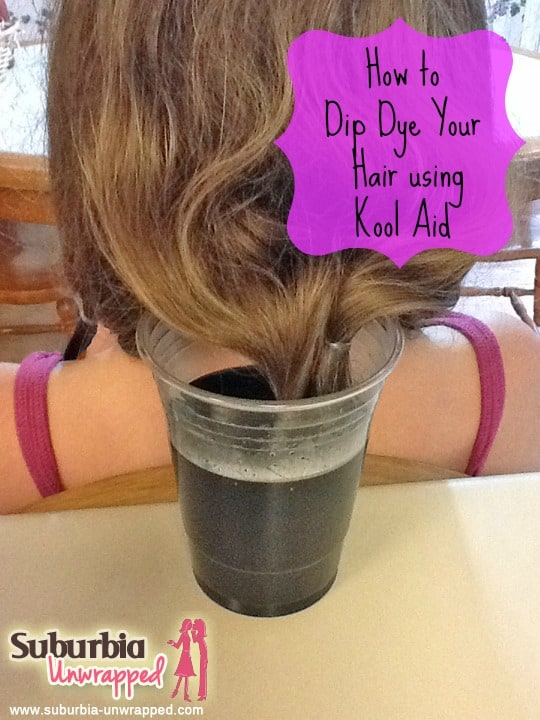 How To Dip Dye Your Hair Using Kool Aid Suburbia Unwrapped