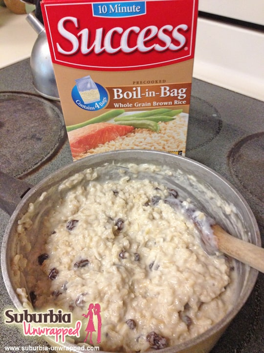 success brown rice pudding
