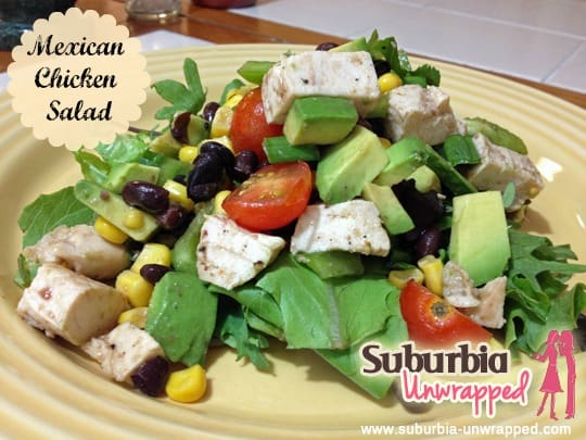 mexican chicken salad with banner