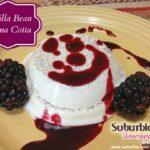 Vanilla Bean Panna Cotta with Blackberry Sauce