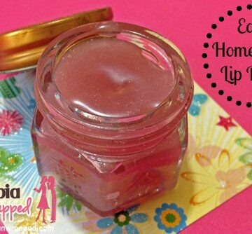 easy homemade lip balm with banner