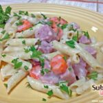 Ham and Cheese Pasta Recipe with Vegetables #15MinuteSuppers