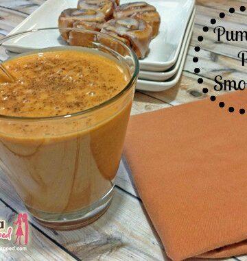pumpkin pie smoothie recipe watermark with banner