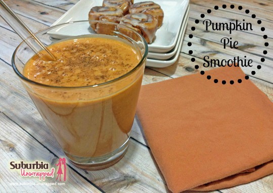 pumpkin pie smoothie recipe watermark with banner