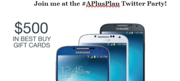 Join me at the #APlusPlan Twitter Party!