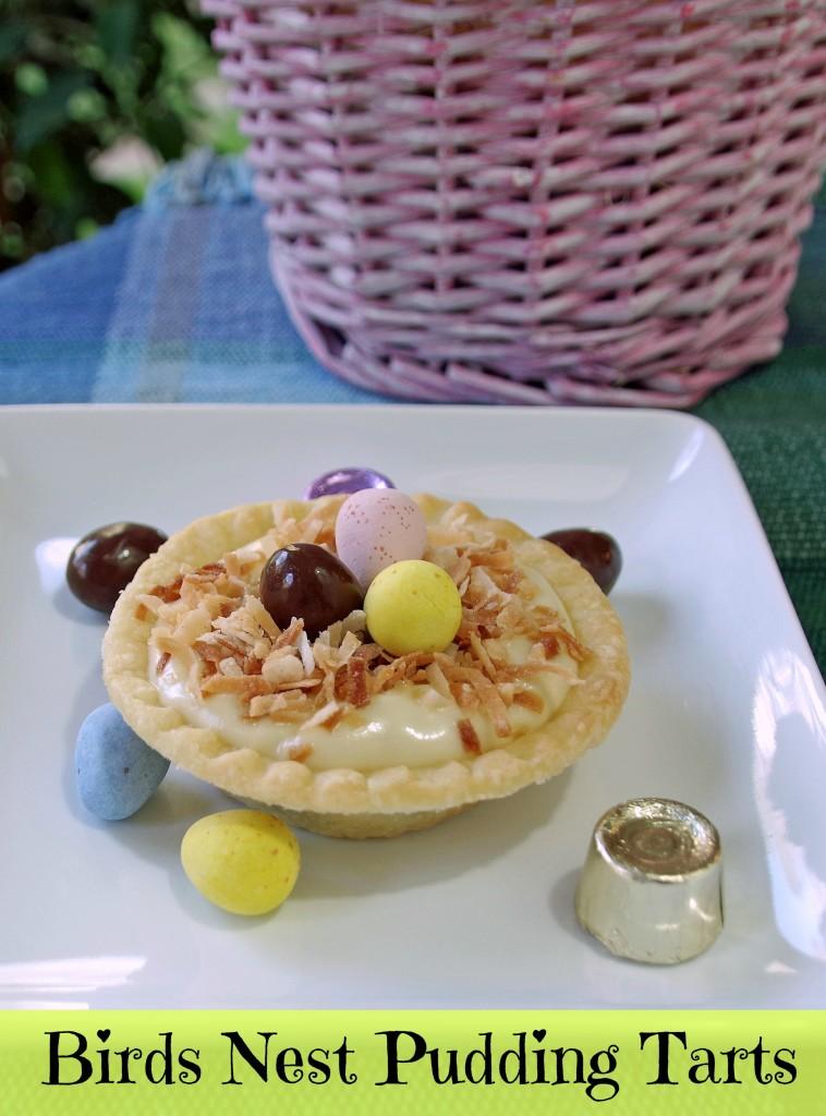 Easy Easter Dessert: Birds Nest Pudding Tart