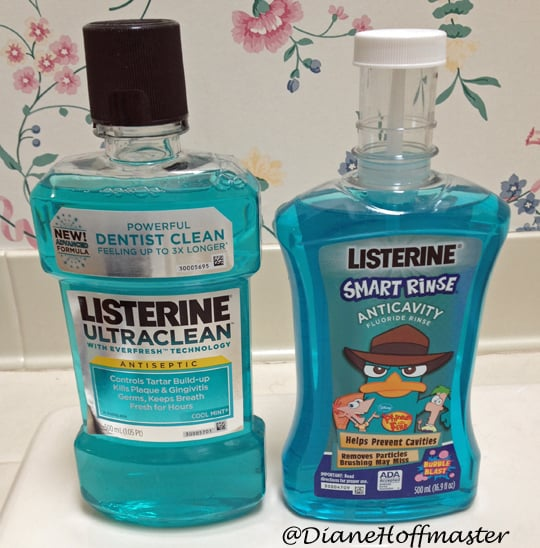 clean teeth with #Listerine