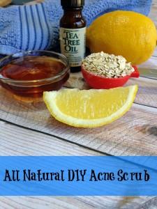 All Natural DIY Acne Scrub Recipe