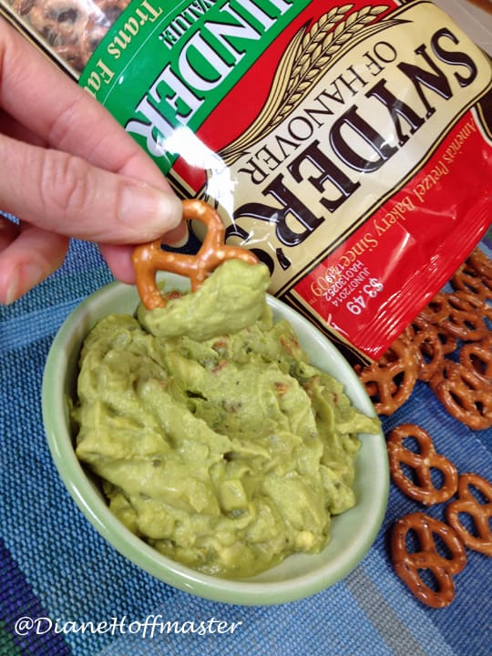 how to get more guacamole in your diet with pretzels