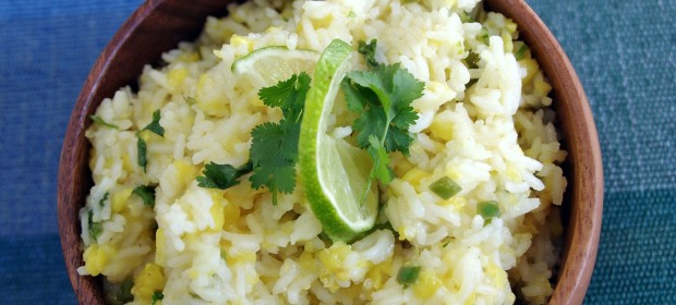 Easy Lime and Pineapple Fried Rice Recipe