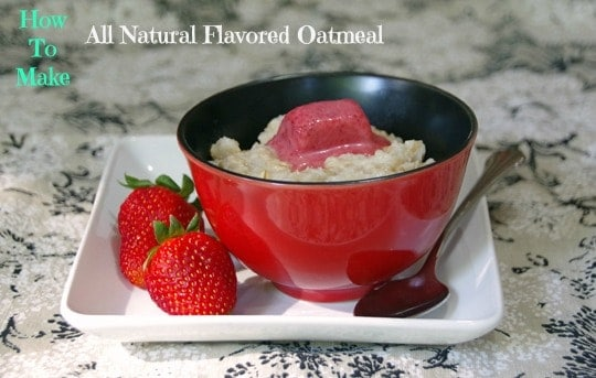 Easy DIY Flavored Oatmeal