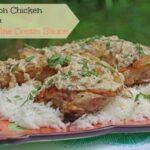 Tarragon Chicken Recipe with a White Wine Cream Sauce  #CKMondaviHeroes