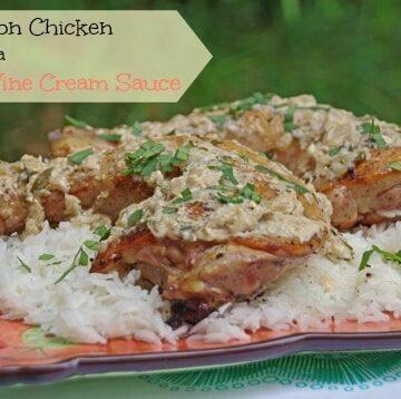 Tarragon Chicken Recipe with a White Wine Cream Sauce 2