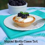 Whipped Ricotta Cheese Tart with Honey and Fresh Blackberries