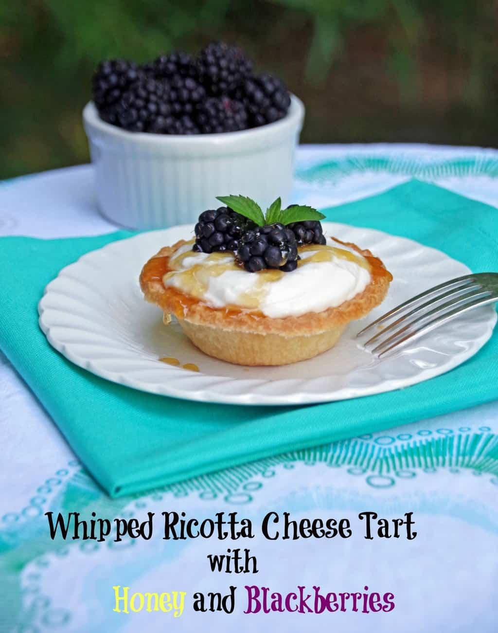 Whipped Ricotta Cheese Tart with Honey and Fresh Blackberries2