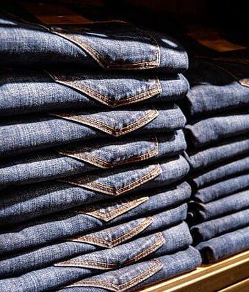 jeans on a shelf
