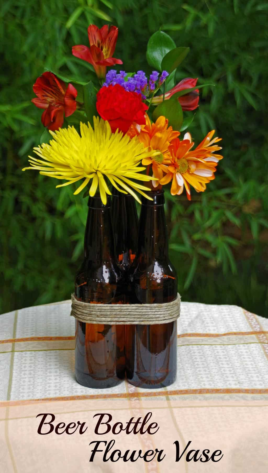 How to make a beer bottle flower vase suburbia unwrapped diy beer bottle flower vase reviewsmspy