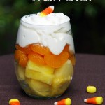 Candy Corn Fruit Parfait Makes a Healthy Halloween Dessert!