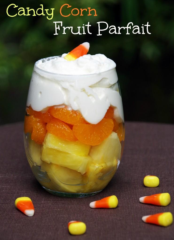 Candy Corn Fruit Parfait Makes a Healthy Halloween Dessert!