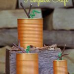 Easy Fall Craft:  Tin Can Pumpkins!
