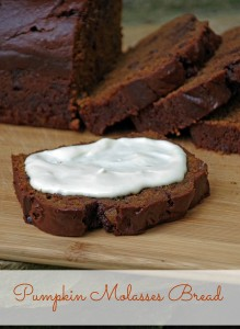Pumpkin Molasses Bread with Candied Ginger