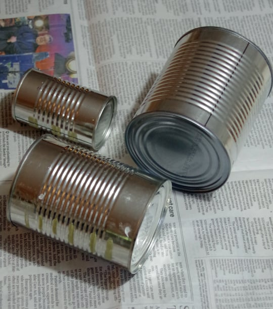 Tin cans for fall craft