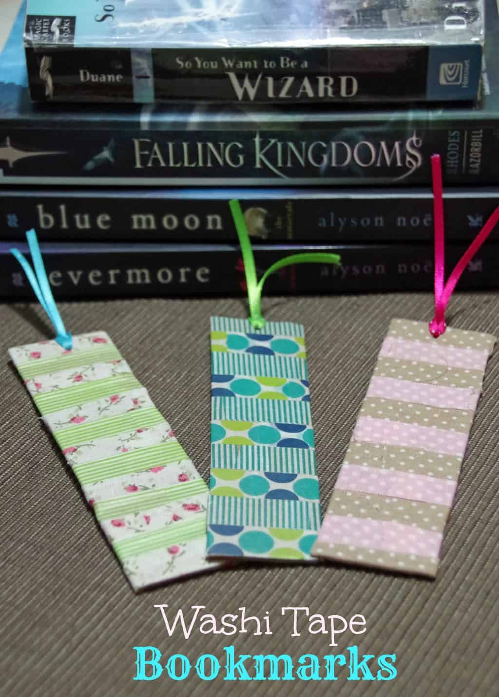 How to make washi tape bookmarks suburbia unwrapped for Crafts with washi tape