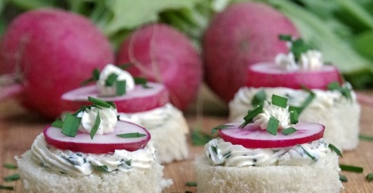 This Radish Tea Sandwich Recipe Makes a Simple Appetizer!