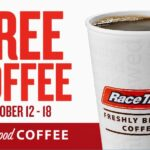 Need More Coffee?  Head to RaceTrac and Get it FREE!   #CrazyGoodCoffee
