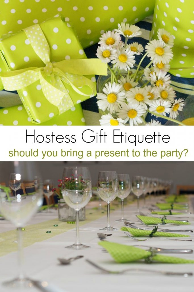 Hostess Gift Etiquette. Should you bring a present to the party?