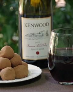 Red Wine Truffles with Kenwood Vineyard