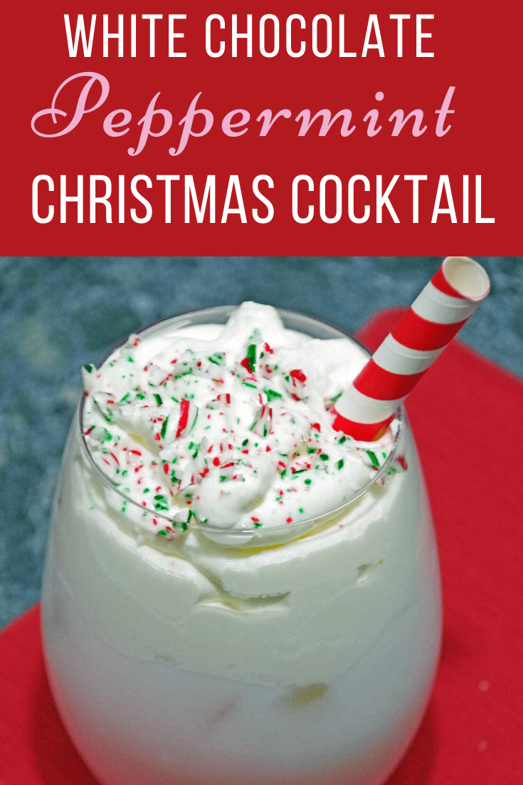 White Chocolate Peppermint Christmas Cocktail Recipe
