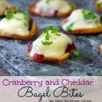 Simple Appetizer Recipe: Cranberry Cheddar Bagel Bites