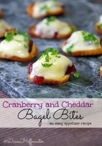 Cranberry Cheddar Bagel Bites Appetizer Recipe 3