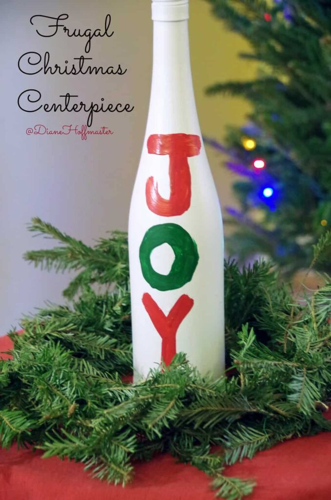 Frugal Christmas Centerpiece 4